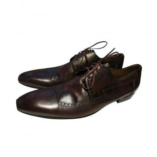 Doucal Brown Smooth Leather Brogues