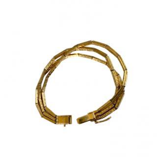 Dior Vintage Gold Plated Three-Strand Bracelet