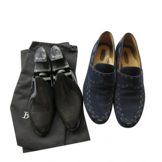 Berluti Blue Suede Limited Edition Loafers