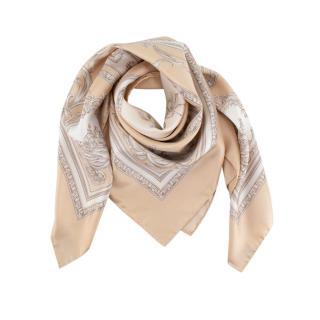 Claridge's baroque print silk twill square scarf