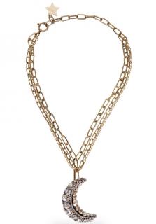 Lanvin Swarovski-embellished moon necklace