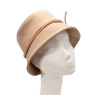 Ruslan Baginskiy Wool Beige Lace Embellishment Bucket Hat