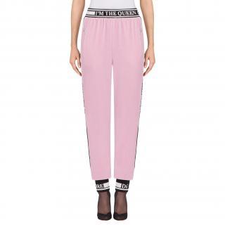 Dolce & Gabbana Pink Velvet Devotion Joggers