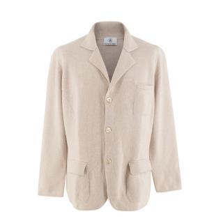 Emanuele Maffeis Ivory Cashmere Knitted Jacket