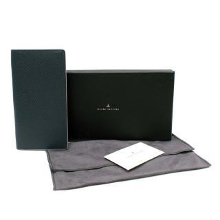 Globe Trotter Blue & Burgundy Leather Coat Wallet