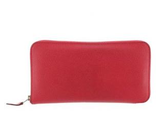 Hermes Red Epsom Leather Azap Wallet