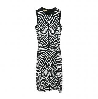 Michael Kors Zebra Print Sleeveless Sheath Dress