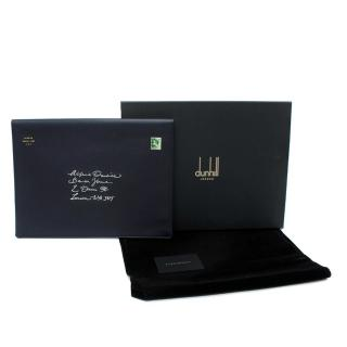 Dunhill Boston Leather Navy Large Laptop Envelope