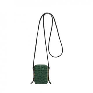 Lutz Morris Jade Croc Embossed Norman Crossbody Bag