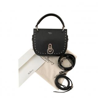 Mulberry Calf Rivets Small Amberley Bag with Silky Calf Eyelet Strap