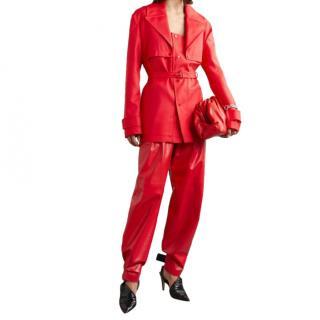 Bottega Veneta Red Runway Belted Jacket