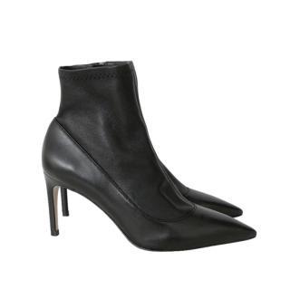 Sophia Webster Black Leather Sock Boots