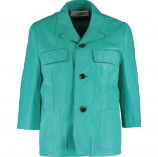 Marni Runway Turquoise Lambskin Jacket