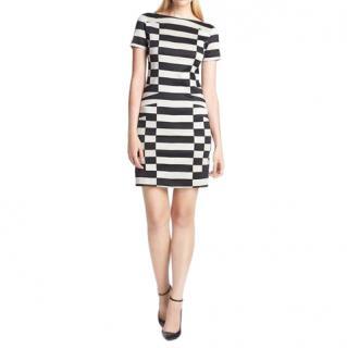 DVF Kathleen Stretch Contrast Knit Dress