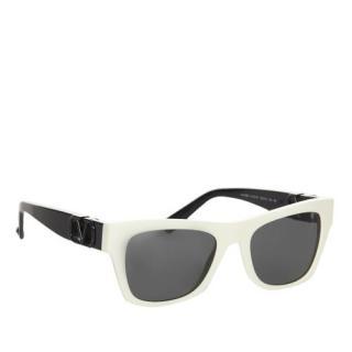 Valentino VA4066 White & Black Square Sunglasses