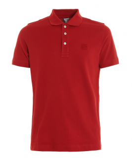 Loewe Red Embroidered Polo Shirt