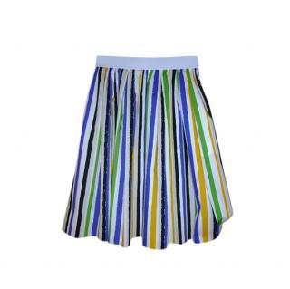 Dolce & Gabbana Striped Cotton Poplin A-Line Skirt