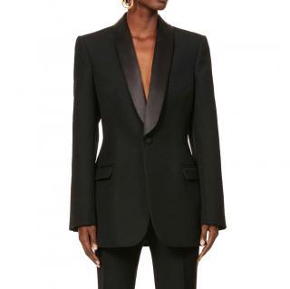 Wardrobe.NYC Black Wool Single Breasted Tuxedo Blazer