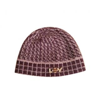 Louis Vuitton Mohair Blend Bordeaux Hat