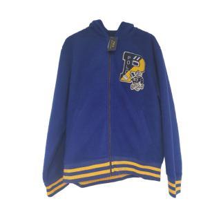 Polo Ralph Lauren Sherpa Fleece Blue/Yellow Zip Hoodie