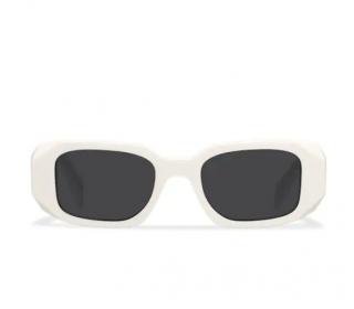 Prada Symbole Sunglasses Chalk White/Slate Grey