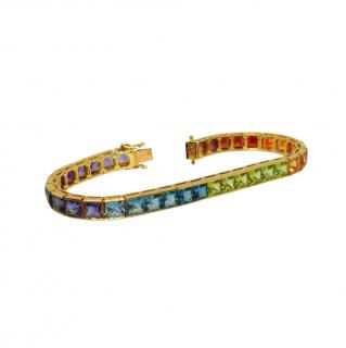 H Stern 18ct Gold Rainbow Gemstone Bracelet