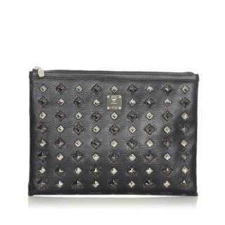MCM Studded Leather Clutch Bag