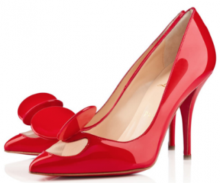 Christian Louboutin Red Patent Leather Madame Mouse Pumps
