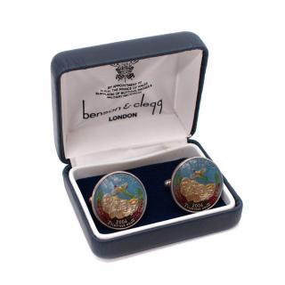 Benson & Clegg South Dakota Quarter Coin Cufflinks