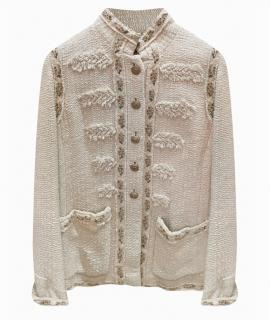 Chanel Limited Edition Embroidered High Neck Jacket