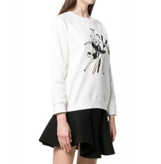 Alexa Chung Ballerinas Print Sweatshirt