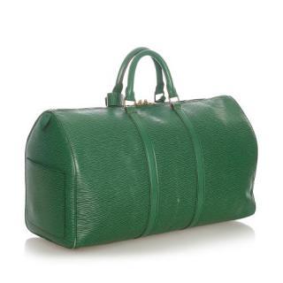 Louis Vuitton Green Epi Leather Keepall 50