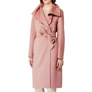 MaxMara Cashmere Dusty Pink Belted Coat