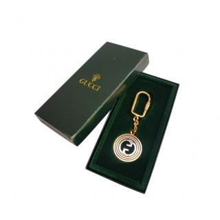 Gucci Vintage Gold & Silver Tone GG Key Chain