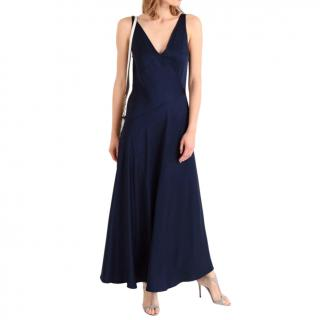 Polo Ralph Lauren Navy Satin Slip Dress