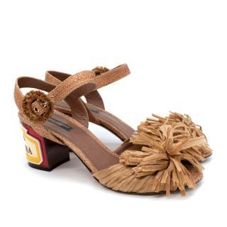 Dolce & Gabbana Keira Ceramic Block Heeled Sandal