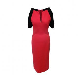 Antonio Berardi Bi-Colour Virgin Wool Blend Dress