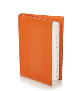 Hermes Orange Epsom Leather Notebook Cover