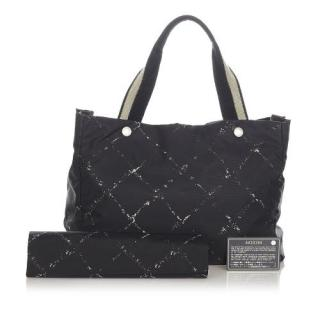 Chanel Old Travel Line Nylon Tote Bag