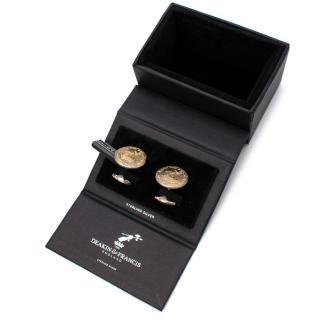 Deakin & Francis Gold Plated & Sterling Silver 230 Crest Cufflinks