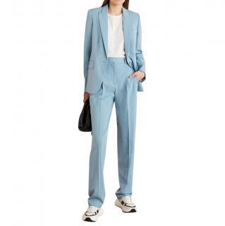 Stella McCartney Light Blue Blazer & High Waisted Tailored Trousers
