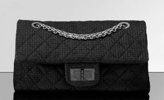 Chanel large quilted fabric shoulder bag