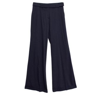 Donna Karan Navy Trousers with Belt