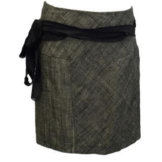 Donna Karan Woven Wrap Skirt