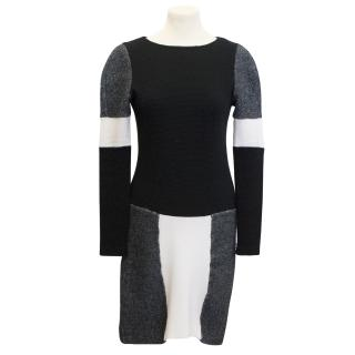Eudon Choi Black and White Jumper Dress