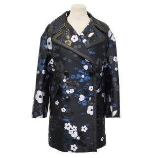 Mulberry Metallic Daisy Coat