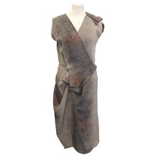 Peter Pilotto Asymmetrical Print Dress
