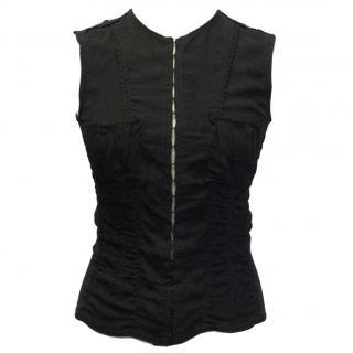Yves Saint Laurent Black Silk Top