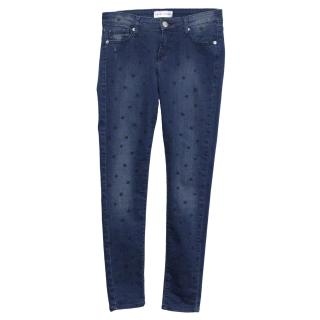 Each x Other Polka Dot Blue Jeans