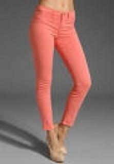 J Brand 811 Mid-Rise Skinny Jean in Coral